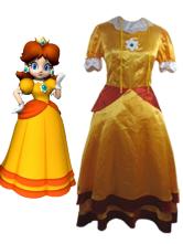 Halloween Traje de Princesa Daisy para cosplay de Super Mario Bros