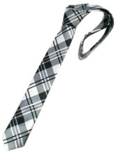 Unique Black White Check  Ties