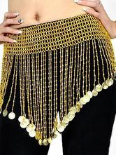 Carnevale Accessorio elegante da ballo a fianco oro con cintura per donne Halloween
