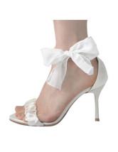 Cetim Moda Feminina Branco 3 1 / 2  '' High Heel Shoes Mulher