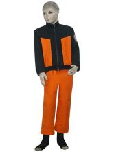 Anime Costumes AF-S2-80617 Black And Orange Uniform Cloth Naruto Shippuden Uzumaki Naruto Kids Cosplay Costume
