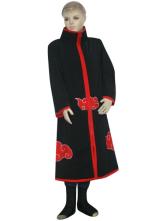 Anime Costumes AF-S2-80623 Black And Red Uniform Cloth Spandex Naruto Akatsuki Itachi Uchiha Kids Deluxe Cosplay Costume