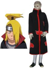 Anime Costumes AF-S2-80758 Black Faux Leather Spandex Naruto Akatsuki Deidara Kids Cosplay Costume