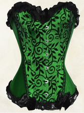 Women Overbust Corsets Sexy Poison Ivy Costume Waist Trainer
