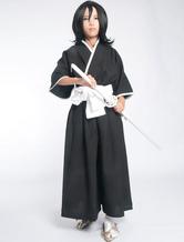 Bleach Kuchiki Rukia Shinigami Cosplay Uniforme Halloween