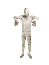 Anime Costumes AF-S2-186626 Mummy Zentai Suit Dying Spandex White Full Bodysuit Costume