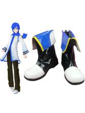 Chaussures de Cosplay Vocaloid Kaito imité cuir Halloween