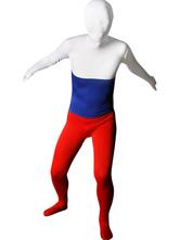Padrão da Rússia Bandeira Zentai Lycra Unisex Suit