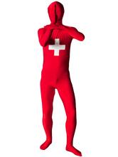 Flag of Switzerland Full Body Spandex Suit Zentai Suit