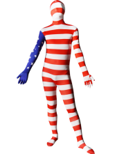 Anime Costumes AF-S2-31264 Halloween United States Flag Full Body Spandex Suit Zentai Suit