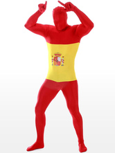 Anime Costumes AF-S2-44573 Spanish Flag Pattern Lycra Suit