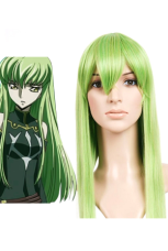 Anime Costumes AF-S2-42657 Code Geass-C.C. Cosplay Wig Green Long Straight Cosplay Wig