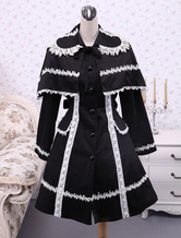 Lolitashow Black Cotton Lolita Jacket