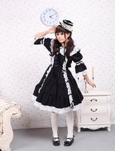 Cotton Black Long Sleeves Classic Lolita Dress