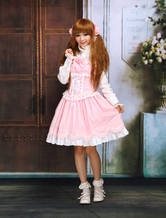 Lolitashow Sweet Ruffles Sleeveless Cotton Lolita Dress