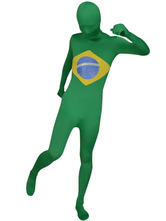 Anime Costumes AF-S2-44569 Flag of Brazil Lycra Bodysuit Zentai Suit