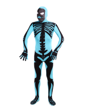 Anime Costumes AF-S2-141756 Blue Human Skeleton Lycra Spandex Unisex Zentai Suit Halloween cosplay costume
