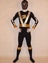 Anime Costumes AF-S2-141812 Black Power Rangers Zentai Suit Lycra Spandex Unisex Bodysuit
