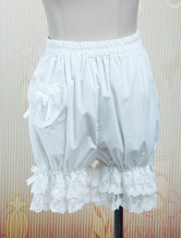 Lolita Bloomers Lace Trim Heart Shape Pocket Bow Ribbon