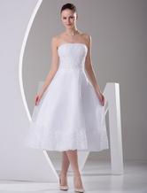 Свадебное платье Атласное модное для приема без бретелек