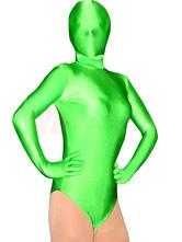 Anime Costumes AF-S2-2950 Halloween Half Length Green Lycra Spandex Unisex Leotard Catsuit