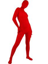 Zentai Unisexe Intégral en velours rouge pour Déguisements Halloween Déguisements Halloween