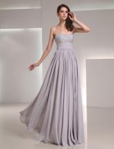 Chiffon Sequin Sweetheart Neck Evening Dress