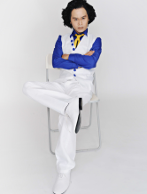 Anime Costumes AF-S2-120072 One Piece Film Strong World Aokiji Cosplay Costume One Piece Marines Cosplay