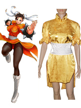 Halloween Street Fighter Chun-Li Gelb Cosplay