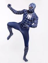 Anime Costumes AF-S2-33844 Navy Blue Spiderman Zentai Suit Halloween Lycra Spandex Super Hero Costume