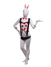 Anime Costumes AF-S2-342640 Halloween Bunny Girl Unisex Lycra Spandex Cool Multicolor Zentai Suits