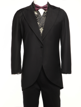 Anime Costumes AF-S2-67424 Men's Vintage Costume Rococo Black Coat Retro Overcoat