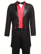 Мужская старинный костюм викторианской черный высокий низкий пальто ретро пальто Хэллоуин