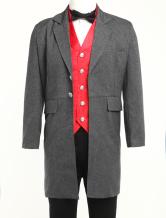 Anime Costumes AF-S2-67394 Men's Vintage Costume Victorian Grey Coat Retro Overcoat
