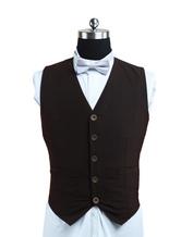 Anime Costumes AF-S2-233764 Steampunk Men's Waistcoat Vintage Clothing Brown Suit Vest