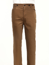 Anime Costumes AF-S2-79317 Men's Vintage Costume Victorian Brown Retro Trousers