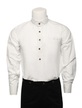 Anime Costumes AF-S2-79369 Men's Vintage Costume Victorian White Shirt Retro Costume Top