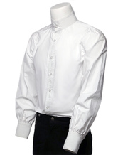 Anime Costumes AF-S2-357974 Retro Steampunk Shirts Men's White Long Sleeve Stand Collar Vintage Dress Shirts