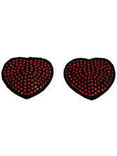 Alluring Red Matte Satin PU Leather Women's Pasties