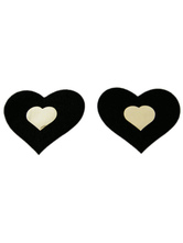 Enticing Heart Shape Black Terry Woman's Pasties