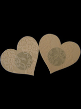 Nude Color Heart Shape Lace Pasties For Women