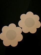 Pasties mit Blumen Design in Nude-Tönen