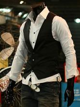 Classic Cotton Blend V-neck Men's Vest