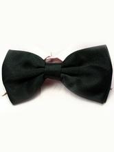 Seda elástica de chique homens pretos como laço de cetim