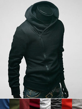 Black Men Hoodie Surplice Zipper Hooded Jersy Jacket Long Sleeve Assassins Creed Hoodie For Men