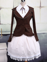 Classic Pockets Long Sleeves Cotton Lolita Outfits