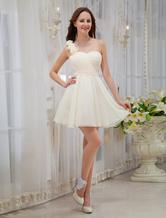 Short Bridesmaid Dress One Shoulder