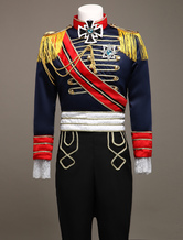 Anime Costumes AF-S2-381687 Royal Vintage Costume Men's European Retro Prince Charming Costume Outfit In Deep Blue