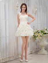 Prom-Kleid aus Chiffon in Champagnerfarbe
