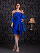 Prom-Kleid aus Satin in Königsblau